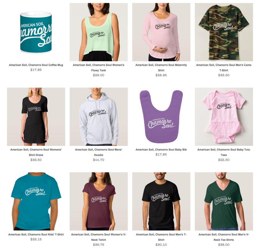 American Soil, Chamorro Soul Merchandise